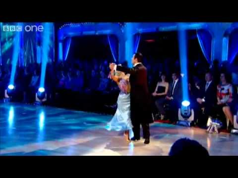 Joe Calzaghe and Kristina Rihanoff dance the foxtrot. Strictly come dancing 2009.