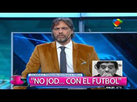 Maradona lo trató de traidor y Tinelli le respondió