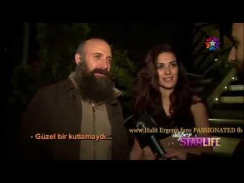 Halit Ergenc...Berguzar's surprise party for Halit's birthday 4/5/2014 Starlife