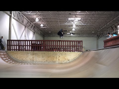 Woody Woelfel kickflip into Modern mini ramp