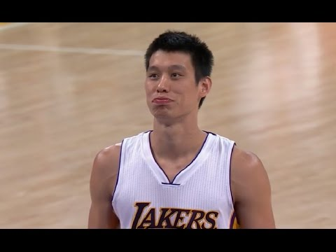 Lakers vs Clippers Jeremy Lin 林書豪 Opening+Timeout+FreeThrow