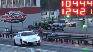 Weight Reduction Tesla P100D - Fastest 1/4 Mile Record!