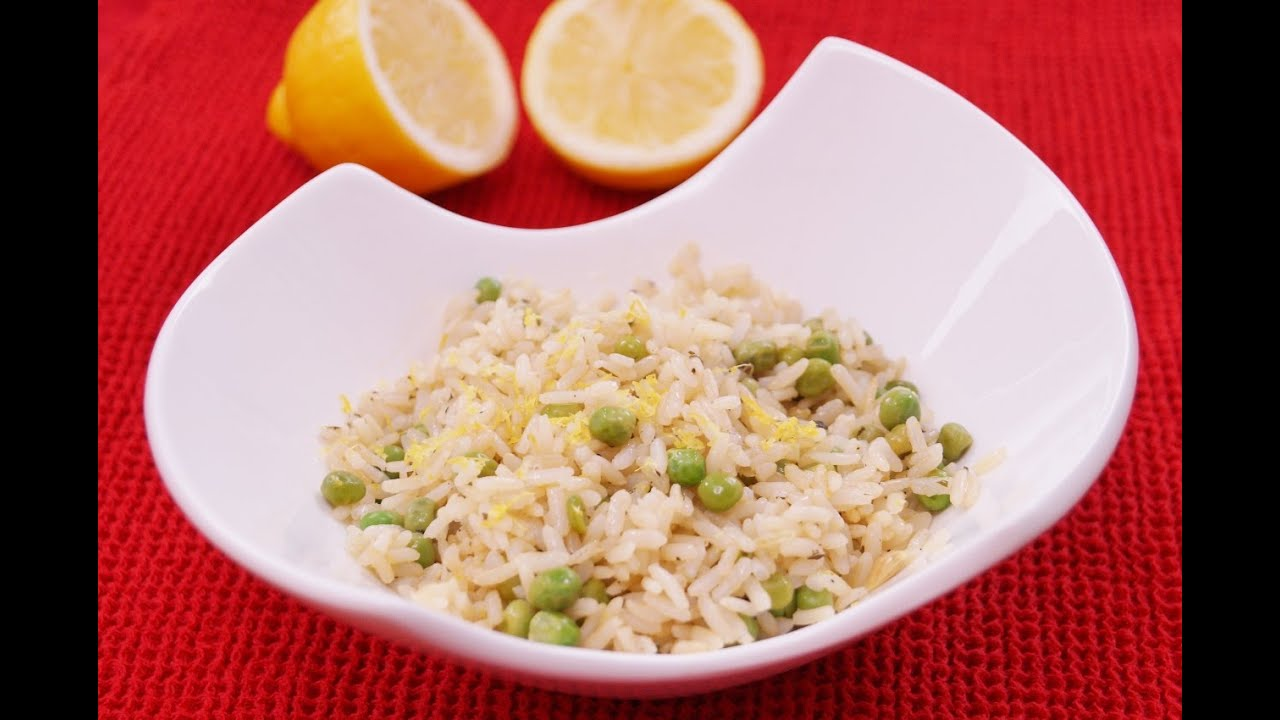 Lemon rice with peas recipe easy side dish diane kometa for Rice side dishes for fish