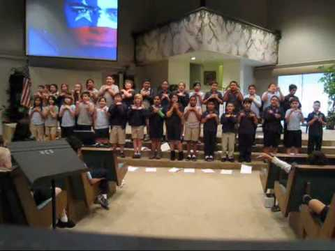 Hillcrest Christian School 4th graders singing in Filipino 2010.wmv - 05/28/2010