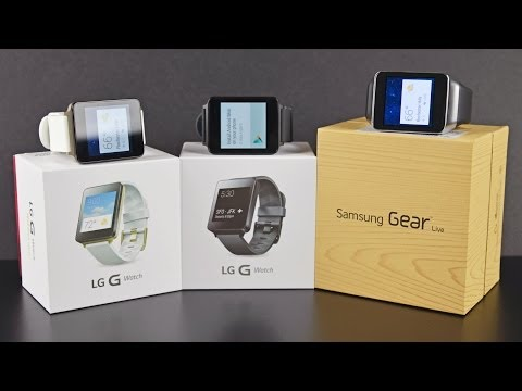 LG G Watch vs Samsung Gear Live: Unboxing & Review
