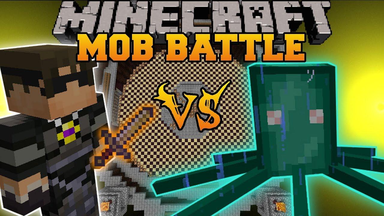 skydoesminecraft vs chief squid minecraft mod battle