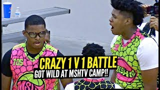Jahzare Jackson Has A CRAZY Trash Talking 1v1 BATTLE vs Another Camper!! CROWD RUSHES THE FLOOR!