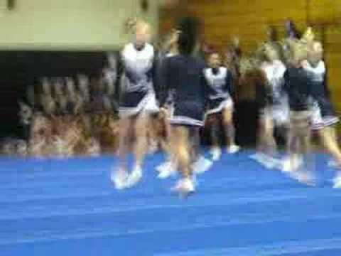 Heritage Middle School Cheerleading At County Competition