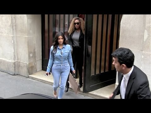 Kim Kardashian and Serena Williams shopping at Alaia Store in paris