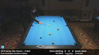 Chris Melling vs Kevin West - 9-Ball - 2019 Derby City Classic