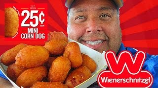 Wienerschnitzel® 25¢ Mini Corn Dogs REVIEW!