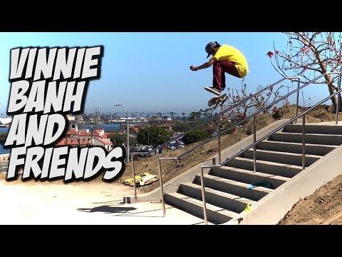 VINNIE BANH & DARRIUS HUTTON SKATE NEW STAIRS & MUCH MORE !!! - NKA VIDS -