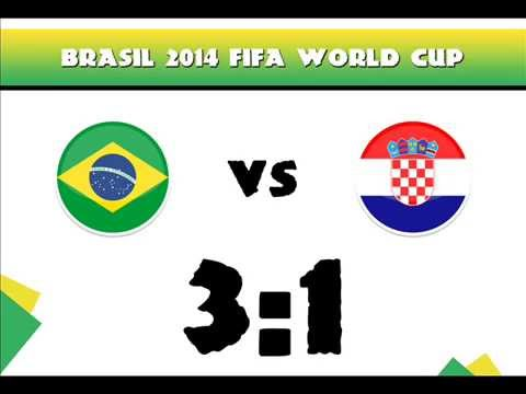 Brazil vs Croatia 3-1 All Goals - result / 12.06.2014 Fifa World Cup Brazil