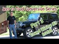 Part 3 - Jeep to RV Toad (Dinghy) Conversion - Hopkins #56200 Plug In Simple Towed Wiring Kit
