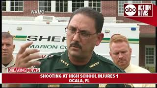 One student injured in shooting at high school in Ocala, suspect in custody