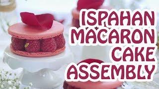 "How to Assemble ""Ispahan"" Rose Lychee Macaron Cake"