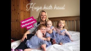 HUGE KIDS CLOTHES HAUL / MONSOON / MOTHERCARE / NEXT / SPRING / SALE / MRS RUSHTON