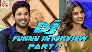 Allu Arjun and Pooja Hegde Funny Interview Part 1 - DJ Duvvada Jagannadham | #DJ
