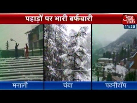 Heavy snowfall in J&K, HP wreaks havoc