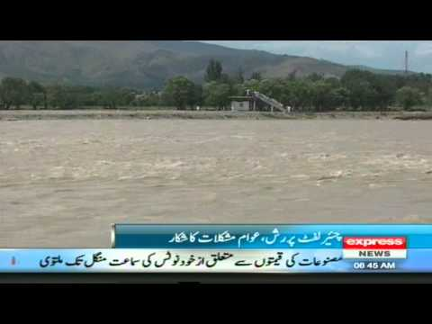 Chair Left Work In Swat River Flood 2013 Sherin Zada Express News Swat Valley video