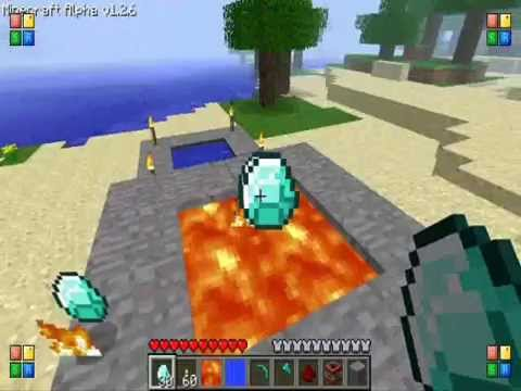 Minecraft: Cannon and diamond Burning Music Videos