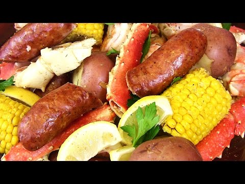 Seafood Boil! Crab. Sausage. Shrimp & Potatoes Oh My!   Cooking With Carolyn