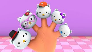 The Finger Family kitty Cake Pop | Bear Lollipop & Hot Dog Finger Family Songs And More Collection
