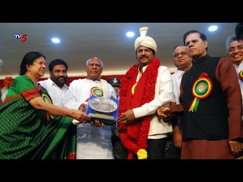 Actor Mohan Babu Recieved Dr. Bezawada Gopala Reddy Award
