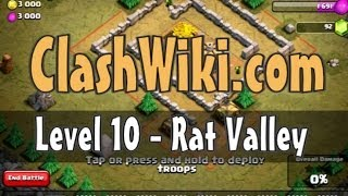 Clash of Clans Level 10 - Rat Valley