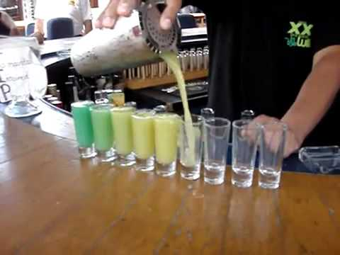 Bartender Makes Bad-Ass Rainbow Shots