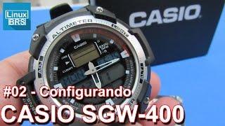Casio SGW-400 - Configurando