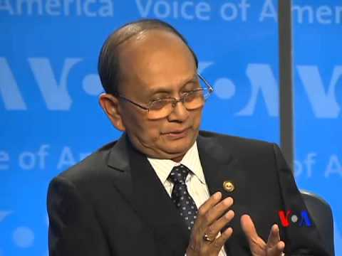 Burma's President U Thein Sein Answers Q &amp; A at VOA Town Hall
