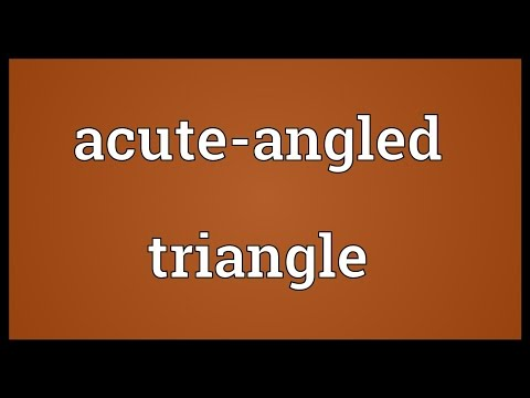 Header of Acute-Angled Triangle