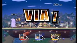 SSBB - Wifi Match #11 - fabry90 vs Gazel vs Wario