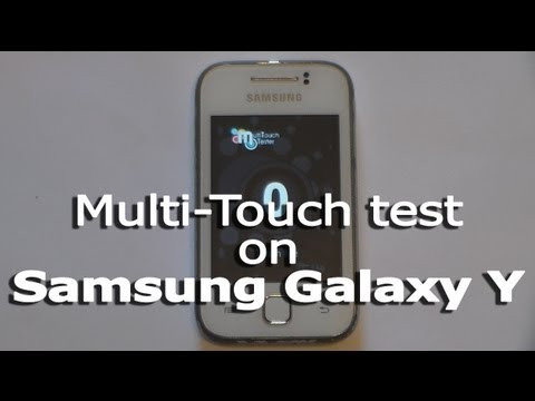 Multi-Touch test on Samsung Galaxy Y GT-S5360
