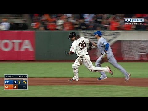 WS2014 Gm3: Morse's RBI double puts Giants on board