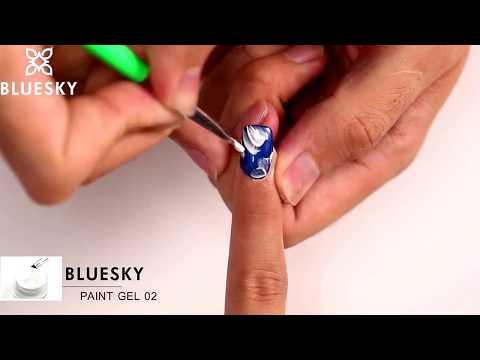 Paint Gel Bluesky nail art