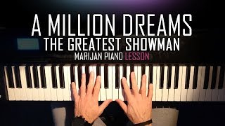 How To Play The Greatest Showman A Million Dreams Piano Tutorial Lesson Sheets