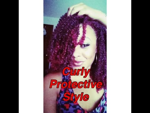 Crochet Braids w/Afro Puffy twist hair