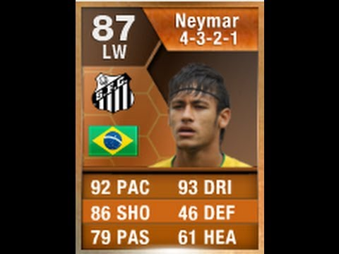 FIFA 13 MOTM NEYMAR 87 Player Review & In Game Stats Ultimate Team