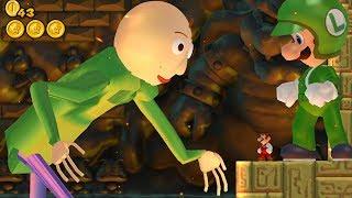 Evil Baldi and Evil Luigi in New Super Mario Bros. Wii