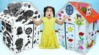 Suri Pretend Play w/ Colored Playhouse Draw On Toys for Kids