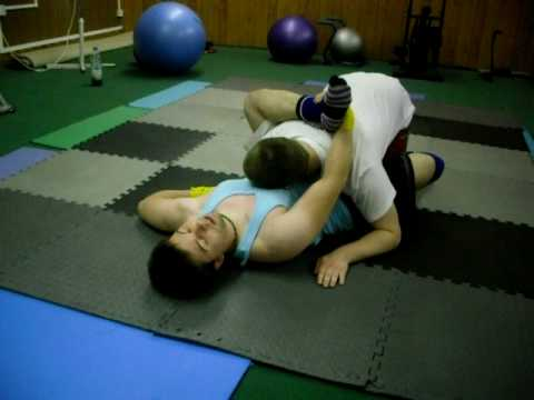 Omoplata setup from Rubber Guard Image 1