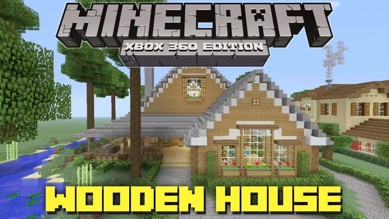 Minecraft xbox 360 cool wooden house lake cottage for Modern house minecraft xbox 360 edition
