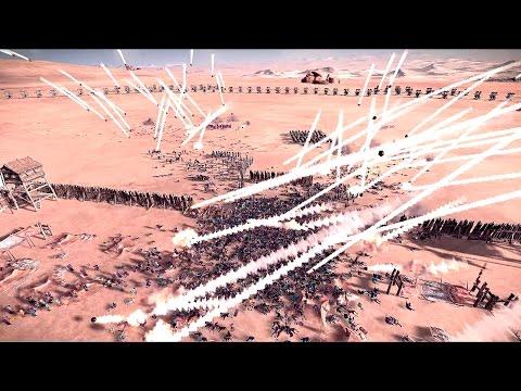 40 Giant Ballistae vs 4000 Eastern Spearmen Rome 2 Total War
