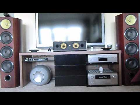 Home Theater B&W 803 Diamond mit Denon and Philips Equipment