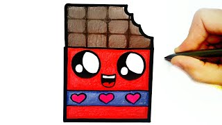 HOW TO DRAW CHOCOLATE EASY STEP BY STEP
