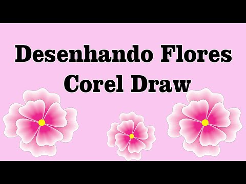 Aprenda como desenhar flor-Corel Draw