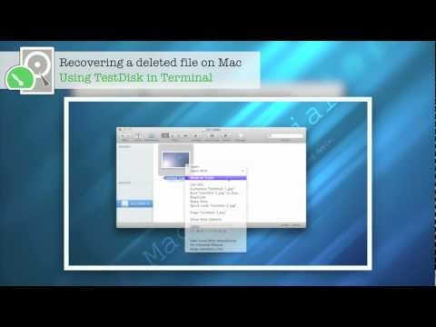 OSX: Restoring deleted files - QUICK & FREE