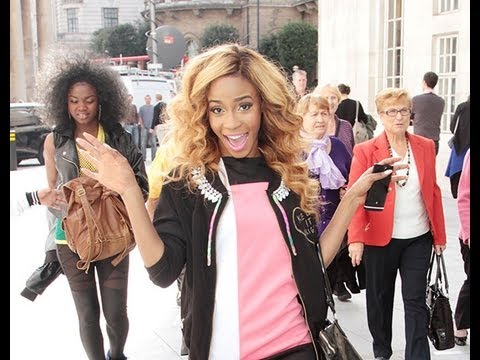 X Factor girl group Dynamix get mobbed at Radio One